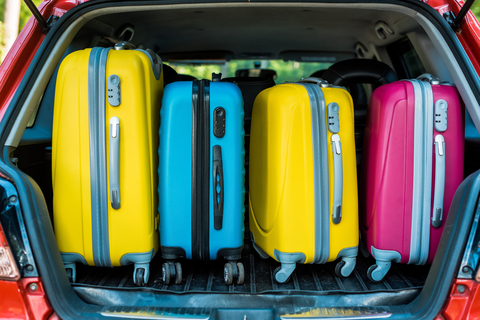 summer holidays suitcases
