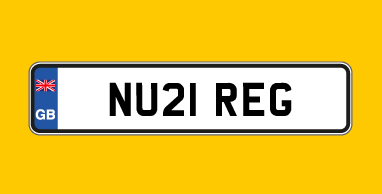 21 number plate