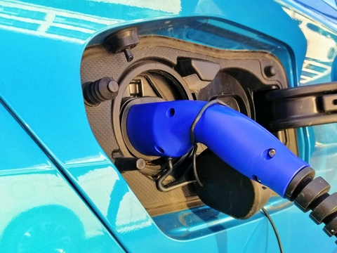 Re-charging your car - electric charge point